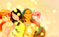 Princess Ariel, Mulan and Pocahontas Hintergrund