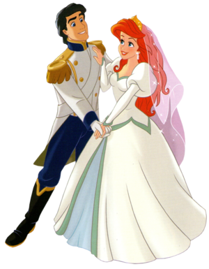 Walt Disney Clip Art - Prince Eric & Princess Ariel
