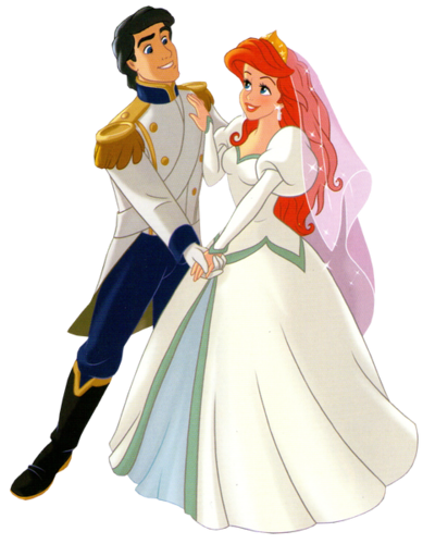 Disney Princess wallpaper possibly with a polonaise entitled Walt Disney Clip Art - Prince Eric & Princess Ariel