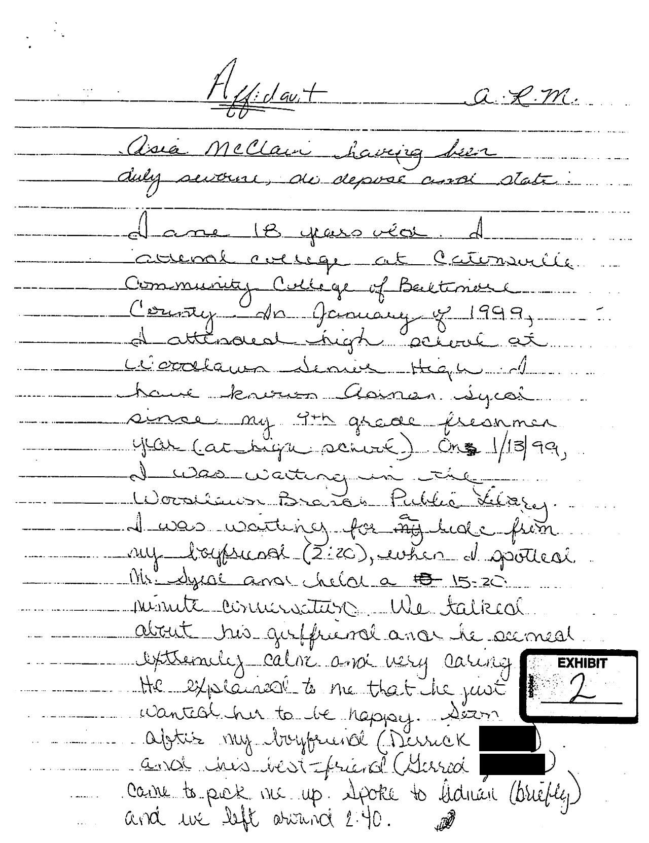 Serial podcast images asia mclains affidavit march 25 2000 page serial podcast images asia mclains affidavit march 25 2000 page 1 hd wallpaper and background photos altavistaventures Images