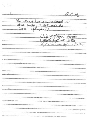Asia McLain's Affidavit (March 25, 2000) Page 2