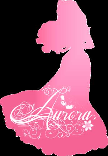putri disney wallpaper titled Aurora Silhouette