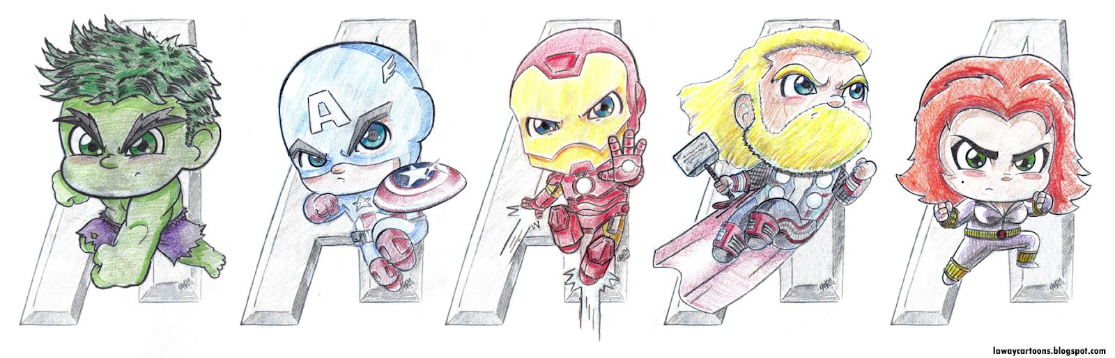 Avengers Cute Drawings