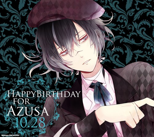DIABOLIK LOVERS(ディアボリック ラヴァーズ) 壁紙 possibly containing a bonnet and a business suit called Azusa's birthday picture