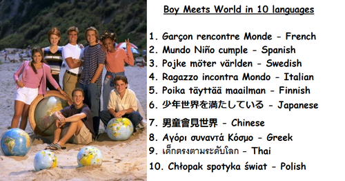 Boy Meets World wallpaper possibly containing a soccer ball titled BMW in 10 languages