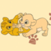 Baby Simba and Nala TLK - the-lion-king icon