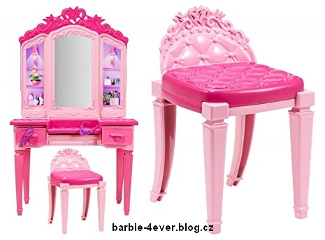 Barbie in Princess Power Vanity Playset