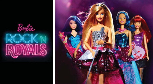 Barbie films achtergrond probably with a concert titled Barbie in Rock'n Royals New Movie 2015?