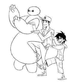 Baymax, Tadashi and Hiro