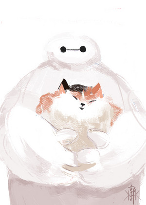 Baymax and Mochi