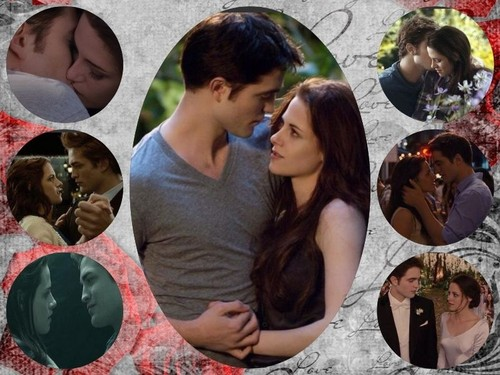 edward y bella fondo de pantalla probably containing a bridesmaid and a portrait called Bella and Edward