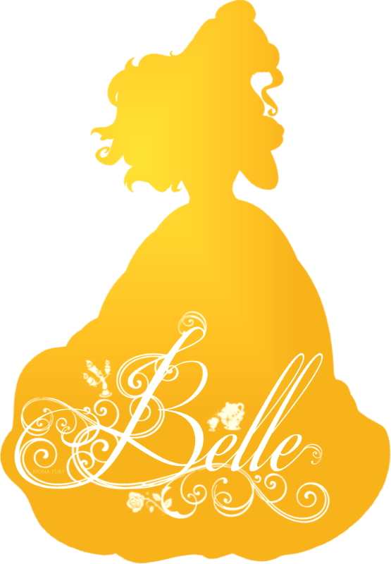 Disney Princess Silhouette Princess Belle Silhouette