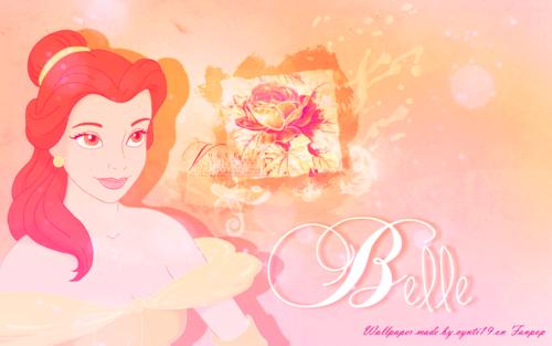 Диснеевские принцессы Обои entitled Belle Обои