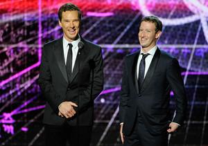 Benedict Cumberbatch and Mark Zuckerberg - Breakthrough Prize Awards