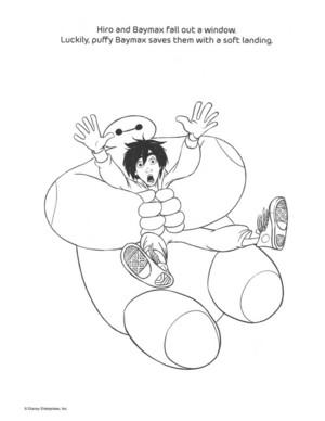 Big Hero 6 Coloring Page