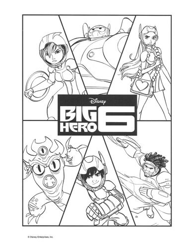 Big Hero 6 Wallpaper Possibly Containing Anime Titled Coloring Page