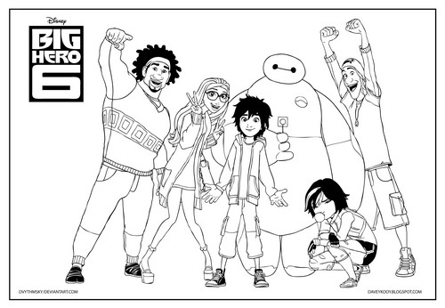 Big Hero 6 Hintergrund with Anime entitled Big Hero 6 Coloring Page