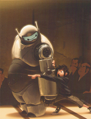 Big Hero 6 Concept Art - Hiro and Baymax