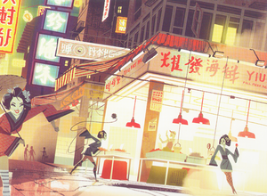 Big Hero 6 Concept Art - The Fujitas (Deleted villains)