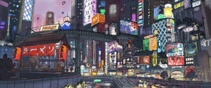 Big Hero 6 - Early San Fransokyo Concept Art