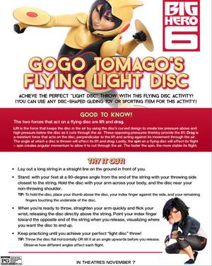Big Hero 6 - GoGo Tomago's Flying Light Disc Experiment