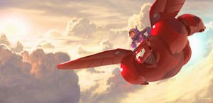 Big Hero 6 Hiro and Baymax Concept Art