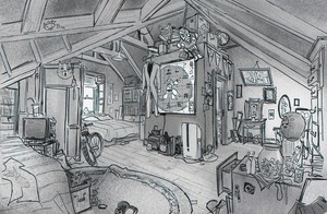Big Hero 6 - Hiro and Tadashi's Room Concept Art