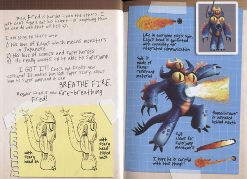 Big Hero 6 Hintergrund with Anime entitled Big Hero 6 Hiro's Journal - Fred's Super Suit