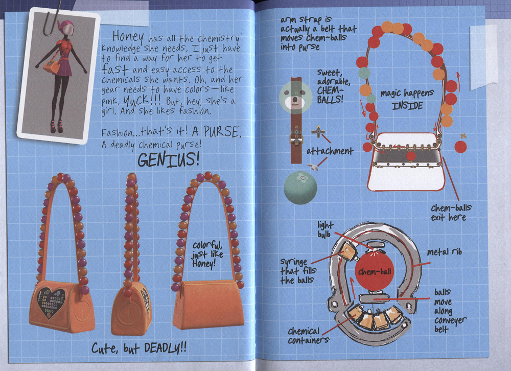 Big Hero 6 Hiro's Journal - Honey's Super Suit