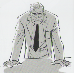 Big Hero 6 - Professor Callaghan Concept Art