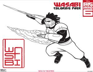 Big Hero 6 Wasabi Coloring Page