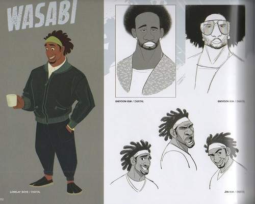Big Hero 6 Hintergrund probably with Anime titled Big Hero 6 - Wasabi Concept Art