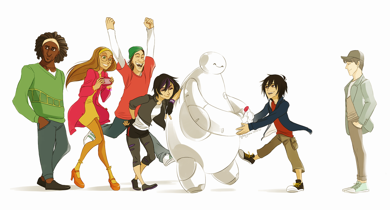 Big Hero 6 Cartoon Characters Names : Big hero fan art  fanpop