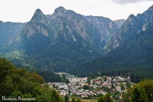 Busteni Romania - beautiful Carpathian mountains eastern europe