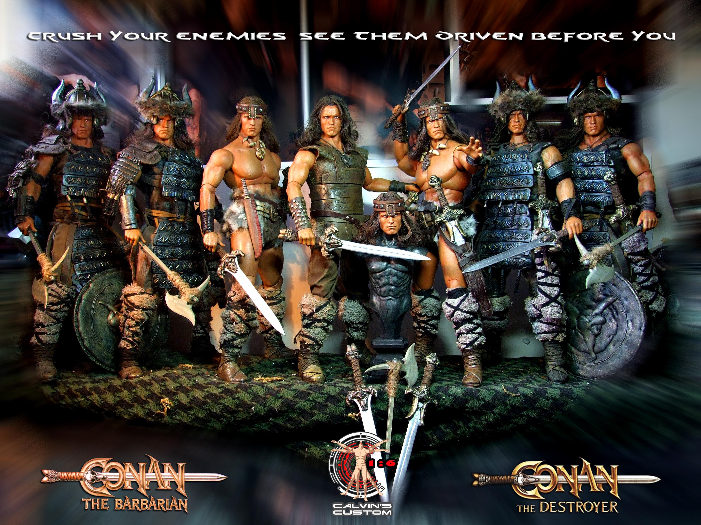 Calvin's Custom One Sixth Scale Arnold Schwarzenegger as Conan the Barbarian and Conan the Destroyer