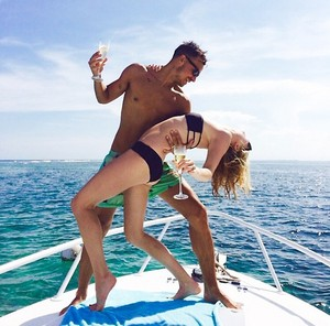 Candice and Joe on their honeymoon