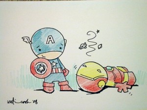 Captain America Battles Iron Man