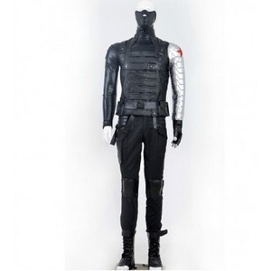 Captain American 2 The Winter Soldier Bucky cosplay costume
