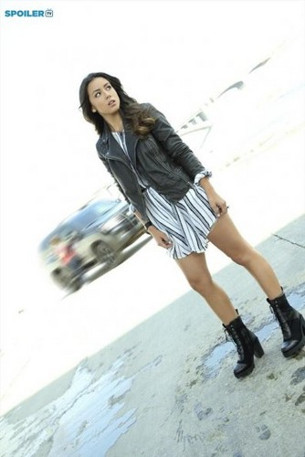 Skye (Agents Of S.H.I.E.L.D) 바탕화면 probably containing a hip boot called Cast Promo Pics