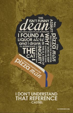 Castiel Quote Poster