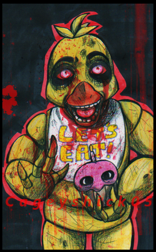 Five Nights at Freddy's 壁紙 possibly with アニメ titled Chica Fazbear Fanart 1