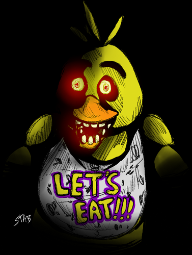 Five Nights at Freddy's پیپر وال called Chica Fazbear Fanart 2