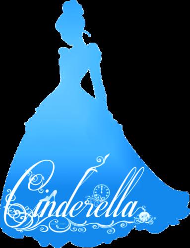 Princesses Disney fond d'écran entitled Cendrillon Silhouette