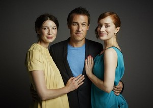 Comic Con Portraits of Caitriona Balfe, Tobias Menzies