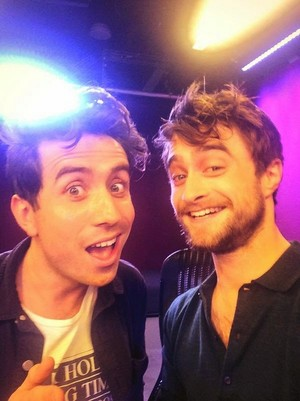 Daniel Radcliffe on BBC Radio 1 (Nick Grimshaw) (Fb.com/DanieljacobRadcliffeFanClub)