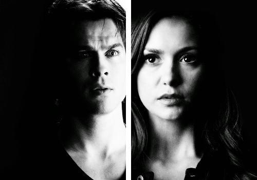Damon&Elena and Ian&Nina wallpaper titled Delena love OTP