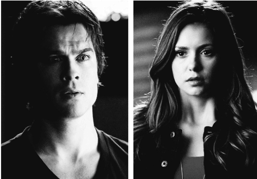 Damon&Elena and Ian&Nina achtergrond possibly containing a portrait entitled Delena love OTP