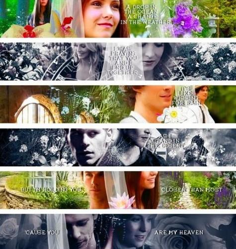 Damon&Elena and Ian&Nina Hintergrund entitled Delena Liebe OTP