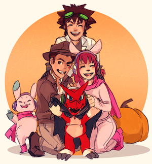 Digimon Xros Wars Halloween version
