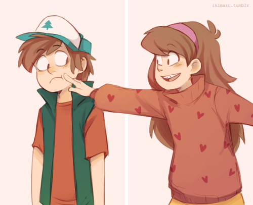 gravity falls fondo de pantalla titled Dipper and Mabel